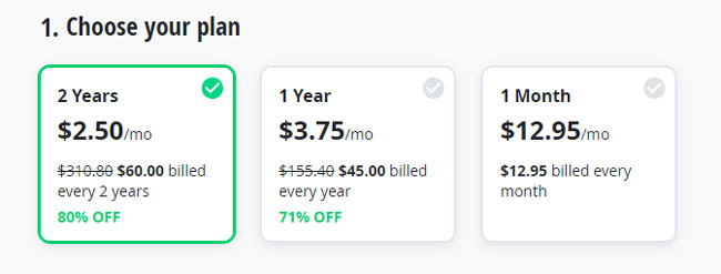 VyprVPN price options