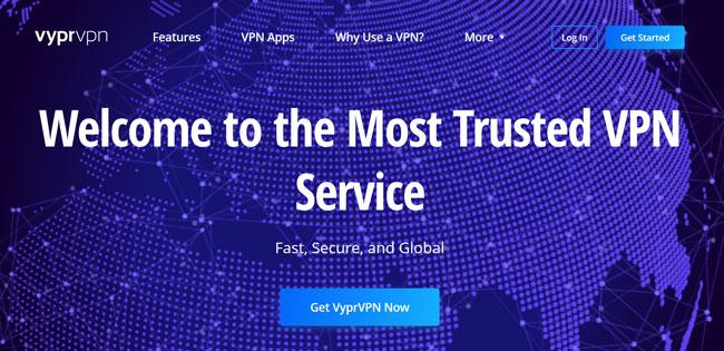 VyprVPN printscreen homepage