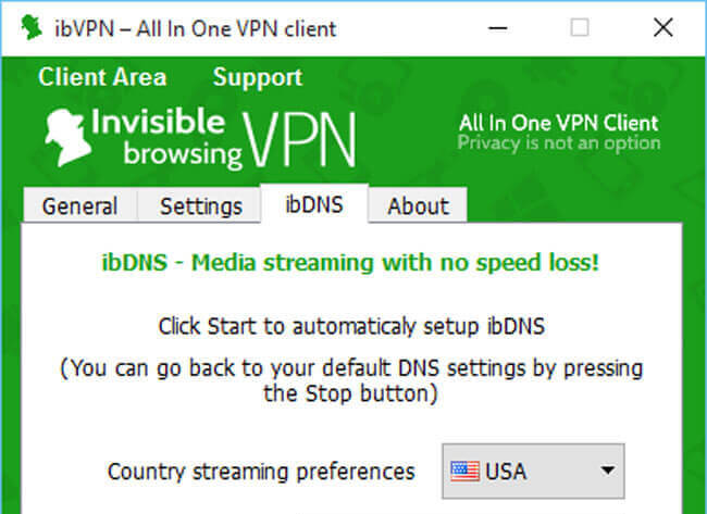 ibVPN interface