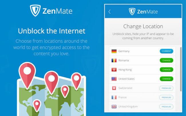 zenmate-interface