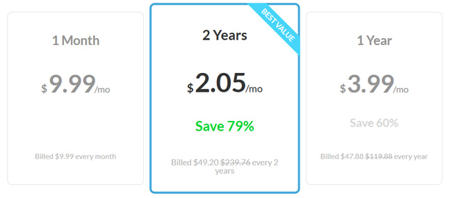 zenmate pricing screen