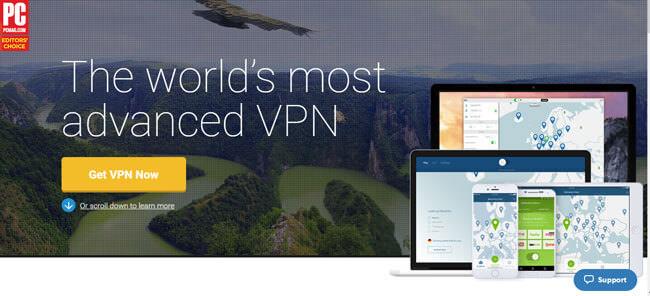 nord vpn homepage