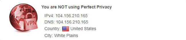 nordvpn Perfect Privacy IP Test