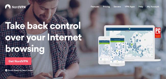 nordvpn homepage