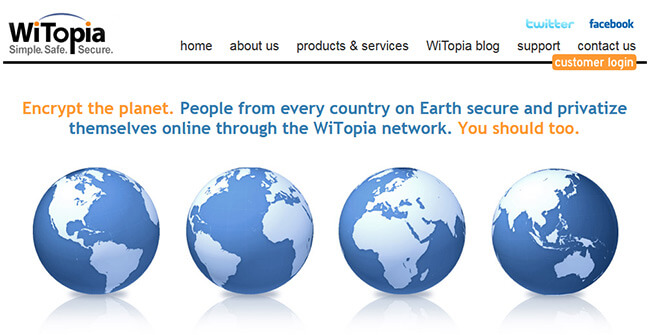 WiTopia Homepage
