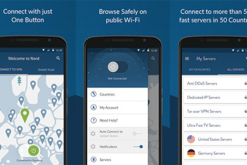 NordVPN Android APP Interface