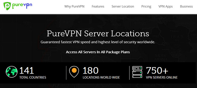 PureVPN Servers Locations
