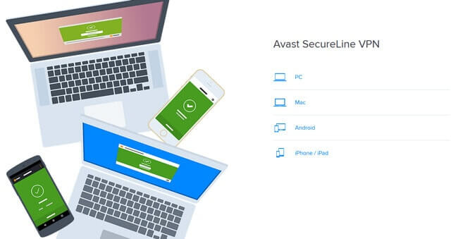 multi platform Avast Secureline VPN