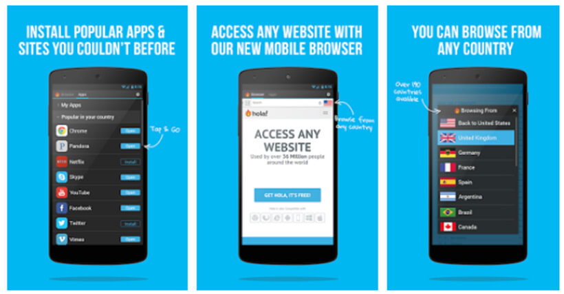 Hola VPN Android App