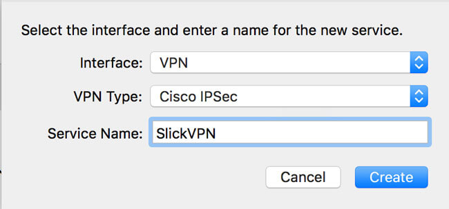 SlickVPN interface