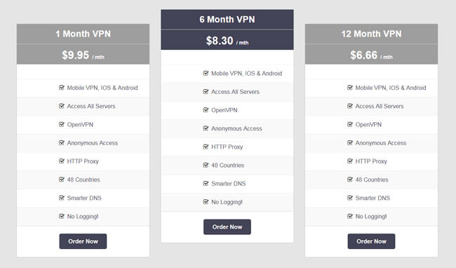 VPNSecure pricing basic