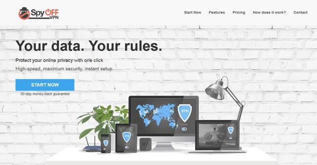 SpyOFF homepage