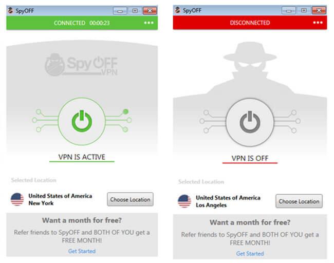 SpyOFF interface