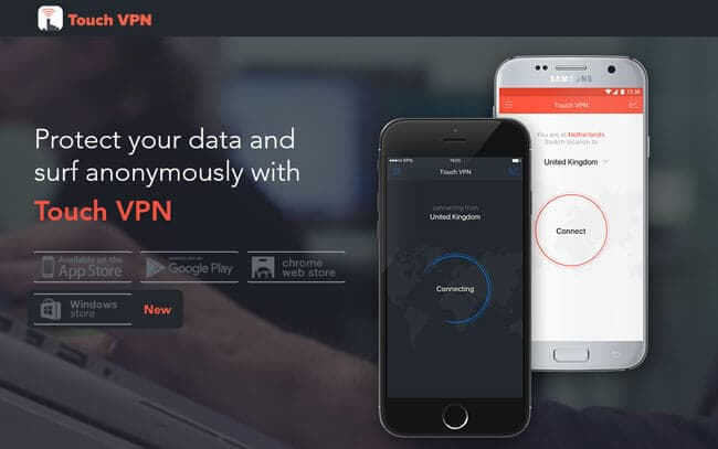 Homepage TouchVPN