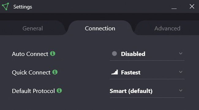 ProtonVPN Connection Settings