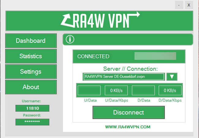 RA4W VPN interface