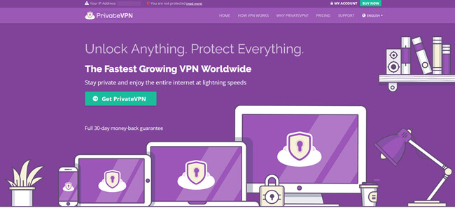 privatevpn homepage