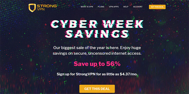 StrongVPN Black Friday 2018