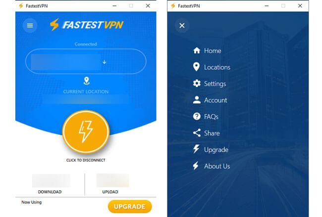 FastestVPN Interface