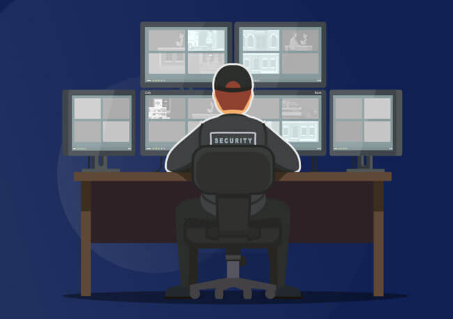 RusVPN illustration security man in front of the computer