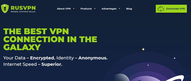 RusVPN printscreen homepage