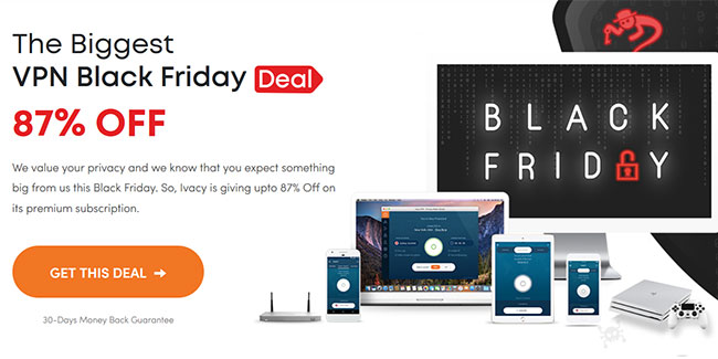Ivacy Black Friday 2019 offer