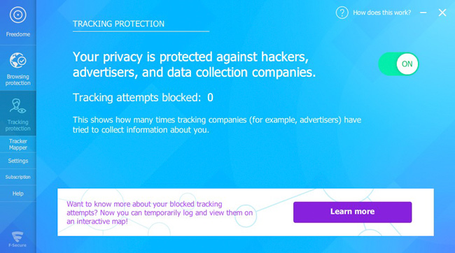F Secure FREEDOME VPN Tracking Protection