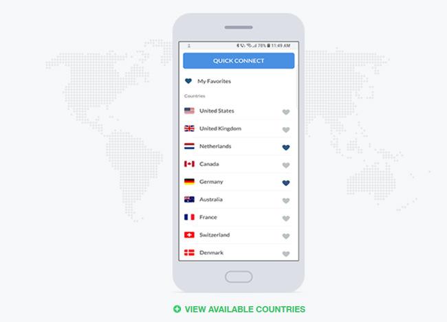 BullGuard VPN servers