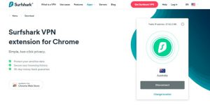 Surfshark Chrome Extension Feature page